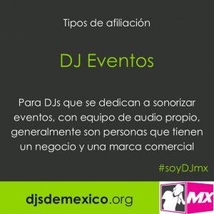 postal afiliacion DJ eventos