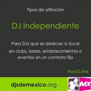 postal afiliacion DJ independiente
